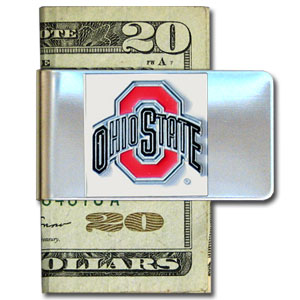 College Large Money Clip - Ohio State Buckeyes - Put your team spirit where your money is with this large metal college money clip. Hand painted 3D emblem in school colors. Check out our extensive line of  licensed sports merchandise! Thank you for shopping with CrazedOutSports.com