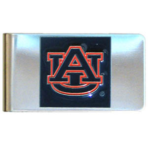College Large Money Clip - Auburn Tigers - Put your Auburn Tigers team spirit where your money is with this large metal college money clip. Hand painted 3D emblem in school colors. Check out our extensive line of  licensed sports merchandise! Thank you for shopping with CrazedOutSports.com