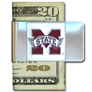College Large Money Clip - Mississippi State Bulldogs - Put your team spirit where your money is with this large metal college money clip. Hand painted 3D emblem in school colors. Check out our extensive line of  licensed sports merchandise! Thank you for shopping with CrazedOutSports.com