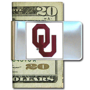 College Large Money Clip - Oklahoma Sooners - Put your team spirit where your money is with this large metal college money clip. Hand painted 3D emblem in school colors. Check out our extensive line of  licensed sports merchandise! Thank you for shopping with CrazedOutSports.com
