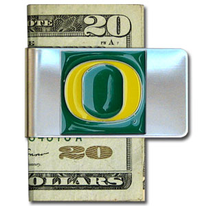 College Large Money Clip - Oregon Ducks - Put your team spirit where your money is with this large metal college money clip. Hand painted 3D emblem in school colors. Check out our extensive line of  licensed sports merchandise! Thank you for shopping with CrazedOutSports.com