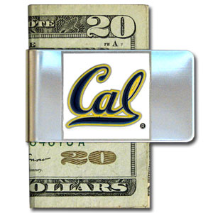College Large Money Clip - Cal Berkeley Bears - Put your Cal Berkeley Bears team spirit where your money is with this large metal college money clip. Hand painted 3D emblem in school colors. Check out our extensive line of  licensed sports merchandise! Thank you for shopping with CrazedOutSports.com