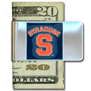 College Large Money Clip - Syracuse Orange - Put your team spirit where your money is with this large metal college money clip. Hand painted 3D emblem in school colors. Check out our extensive line of  licensed sports merchandise! Thank you for shopping with CrazedOutSports.com
