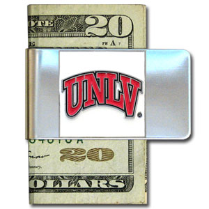College Large Money Clip - UNLV Rebels - Put your team spirit where your money is with this large metal college money clip. Hand painted 3D emblem in school colors. Check out our extensive line of  licensed sports merchandise! Thank you for shopping with CrazedOutSports.com