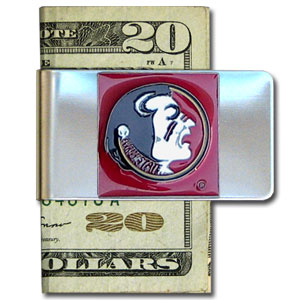 College Large Money Clip - Florida State Seminoles - Put your Florida State Seminoles team spirit where your money is with this large metal college money clip. Hand painted 3D emblem in Florida State Seminoles school colors. Check out our extensive line of  licensed sports merchandise! Thank you for shopping with CrazedOutSports.com
