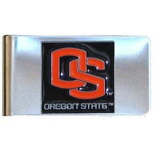 College Large Money Clip -  Oregon State Beavers - Put your team spirit where your money is with this large metal college money clip. Hand painted 3D emblem in school colors. Check out our extensive line of  licensed sports merchandise! Thank you for shopping with CrazedOutSports.com