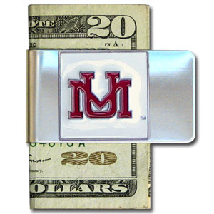 College Large Money Clip -  Montana Grizzlies - Put your team spirit where your money is with this large metal college money clip. Hand painted 3D emblem in school colors. Check out our extensive line of  licensed sports merchandise! Thank you for shopping with CrazedOutSports.com