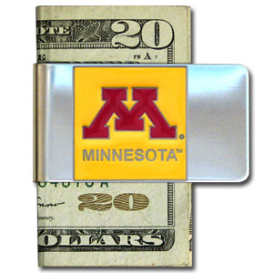 Minnesota Golden Gophers College Large Money Clip - Put your team spirit where your money is with this Minnesota Golden Gophers College Large Money Clip. Minnesota Golden Gophers College Large Money Clip has a hand painted 3D emblem in school colors. Check out our extensive line of  licensed sports merchandise! Thank you for shopping with CrazedOutSports.com