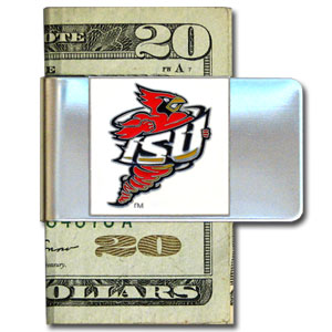 College Large Money Clip -  Iowa St. Cyclones - Put your team spirit where your money is with this large metal Iowa St. Cyclones college money clip. Hand painted 3D emblem in school colors. Check out our extensive line of  licensed sports merchandise! Thank you for shopping with CrazedOutSports.com