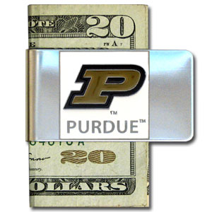 College Large Money Clip - Purdue Boilermakers - Put your team spirit where your money is with this large metal college money clip. Hand painted 3D emblem in school colors. Check out our extensive line of  licensed sports merchandise! Thank you for shopping with CrazedOutSports.com