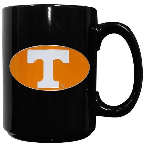 Tennessee Ceramic Coffee Mug - Our officiallly licensed college ceramic coffee mugs have an 11 oz capacity and feature a fully cast and hand enameled school emblem. Thank you for shopping with CrazedOutSports.com