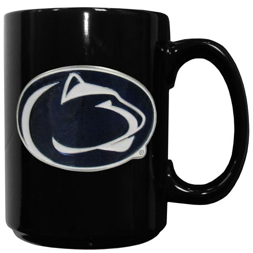 Penn St. Ceramic Coffee Mug - Our officiallly licensed college ceramic coffee mugs have an 11 oz capacity and feature a fully cast and hand enameled school emblem. Thank you for shopping with CrazedOutSports.com