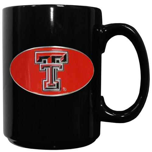Texas Tech Ceramic Coffee Mug - Our officiallly licensed college ceramic coffee mugs have an 11 oz capacity and feature a fully cast and hand enameled school emblem. Thank you for shopping with CrazedOutSports.com