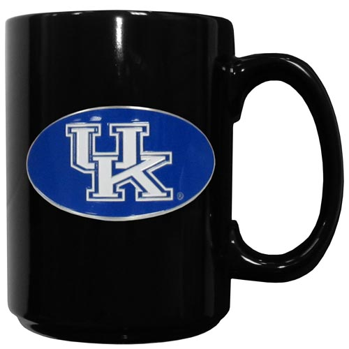 Kentucky Ceramic Coffee Mug - Our officiallly licensed college ceramic coffee mugs have an 11 oz capacity and feature a fully cast and hand enameled school emblem. Thank you for shopping with CrazedOutSports.com