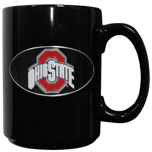 Ohio St. Ceramic Coffee Mug - Our officiallly licensed college ceramic coffee mugs have an 11 oz capacity and feature a fully cast and hand enameled school emblem. Thank you for shopping with CrazedOutSports.com