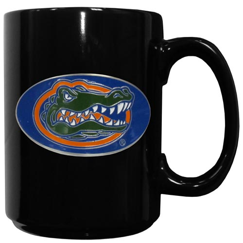 Florida Gators Ceramic Coffee Mug - Our officiallly licensed college ceramic coffee mugs have an 11 oz capacity and feature a fully cast and hand enameled Florida Gators school emblem. Thank you for shopping with CrazedOutSports.com