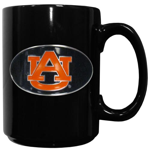 Auburn Ceramic Coffee Mug - Our officiallly licensed Auburn Tigers college ceramic coffee mugs have an 11 oz capacity and feature a fully cast and hand enameled school emblem. Thank you for shopping with CrazedOutSports.com