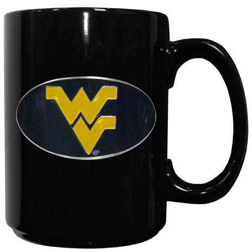 W. Virginia Ceramic Coffee Mug - Our officiallly licensed college ceramic coffee mugs have an 11 oz capacity and feature a fully cast and hand enameled school emblem. Thank you for shopping with CrazedOutSports.com