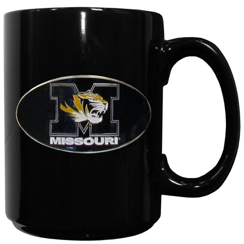 Missouri Ceramic Coffee Mug - Our officiallly licensed college ceramic coffee mugs have an 11 oz capacity and feature a fully cast and hand enameled school emblem. Thank you for shopping with CrazedOutSports.com