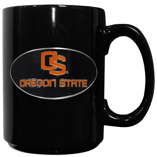 Oregon St. Coffee Mug - Our officiallly licensed college ceramic coffee mugs have an 11 oz capacity and feature a fully cast and hand enameled school emblem. Thank you for shopping with CrazedOutSports.com