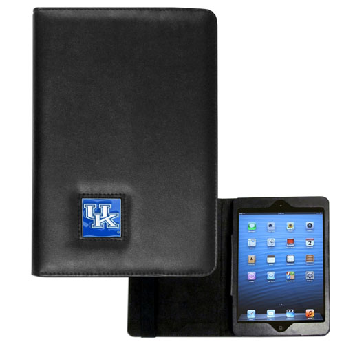 Kentucky iPad Mini Case - The perfect iPad mini accessory. The iPad mini slides easily into the inner sleeve that allows complete accessibility to all of the devices features and is the protected by the attractive out cover that can be secured closed or open while working with a simple stretch band. The great case features a cast and enameled college emblem. Thank you for shopping with CrazedOutSports.com