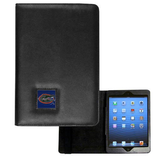Florida Gators iPad Mini Case - The perfect iPad mini accessory. The iPad mini slides easily into the inner sleeve that allows complete accessibility to all of the devices features and is the protected by the attractive out cover that can be secured closed or open while working with a simple stretch band. The great case features a cast and enameled Florida Gators college emblem. Thank you for shopping with CrazedOutSports.com