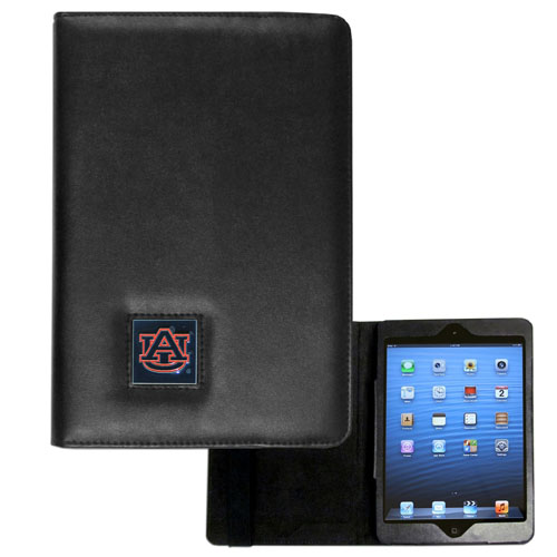 Auburn Tigers iPad Mini Case - The perfect iPad mini accessory. The iPad mini slides easily into the inner sleeve that allows complete accessibility to all of the devices features and is the protected by the attractive out cover that can be secured closed or open while working with a simple stretch band. The great case features a cast and enameled Auburn Tigers college emblem. Thank you for shopping with CrazedOutSports.com