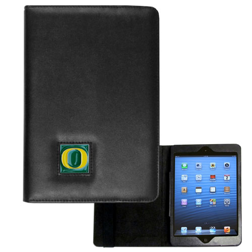 Oregon iPad Mini Case - The perfect iPad mini accessory. The iPad mini slides easily into the inner sleeve that allows complete accessibility to all of the devices features and is the protected by the attractive out cover that can be secured closed or open while working with a simple stretch band. The great case features a cast and enameled college emblem. Thank you for shopping with CrazedOutSports.com