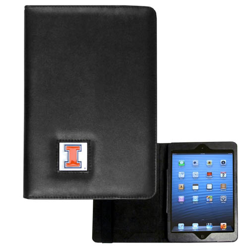 Illinois Fighting Illini iPad Mini Case - Illinois Fighting Illini iPad Mini Case is the perfect iPad mini accessory. The iPad mini slides easily into the inner sleeve that allows complete accessibility to all of the devices features and is the protected by the attractive out cover that can be secured closed or open while working with a simple stretch band. The great case features a cast and enameled college emblem. Thank you for shopping with CrazedOutSports.com