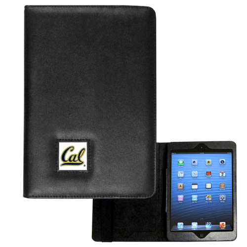 Cal Berkeley Bears iPad Mini Case - The perfect iPad mini accessory. The iPad mini slides easily into the inner sleeve that allows complete accessibility to all of the devices features and is the protected by the attractive out cover that can be secured closed or open while working with a simple stretch band. The great case features a cast and enameled Cal Berkeley Bears college emblem. Thank you for shopping with CrazedOutSports.com