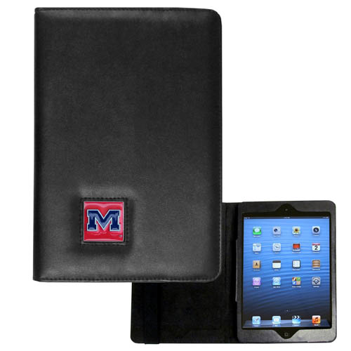 Mississippi Rebels iPad Mini Case - The perfect iPad mini accessory. The iPad mini slides easily into the inner sleeve that allows complete accessibility to all of the devices features and is the protected by the attractive out cover that can be secured closed or open while working with a simple stretch band. The great case features a cast and enameled college emblem. Thank you for shopping with CrazedOutSports.com