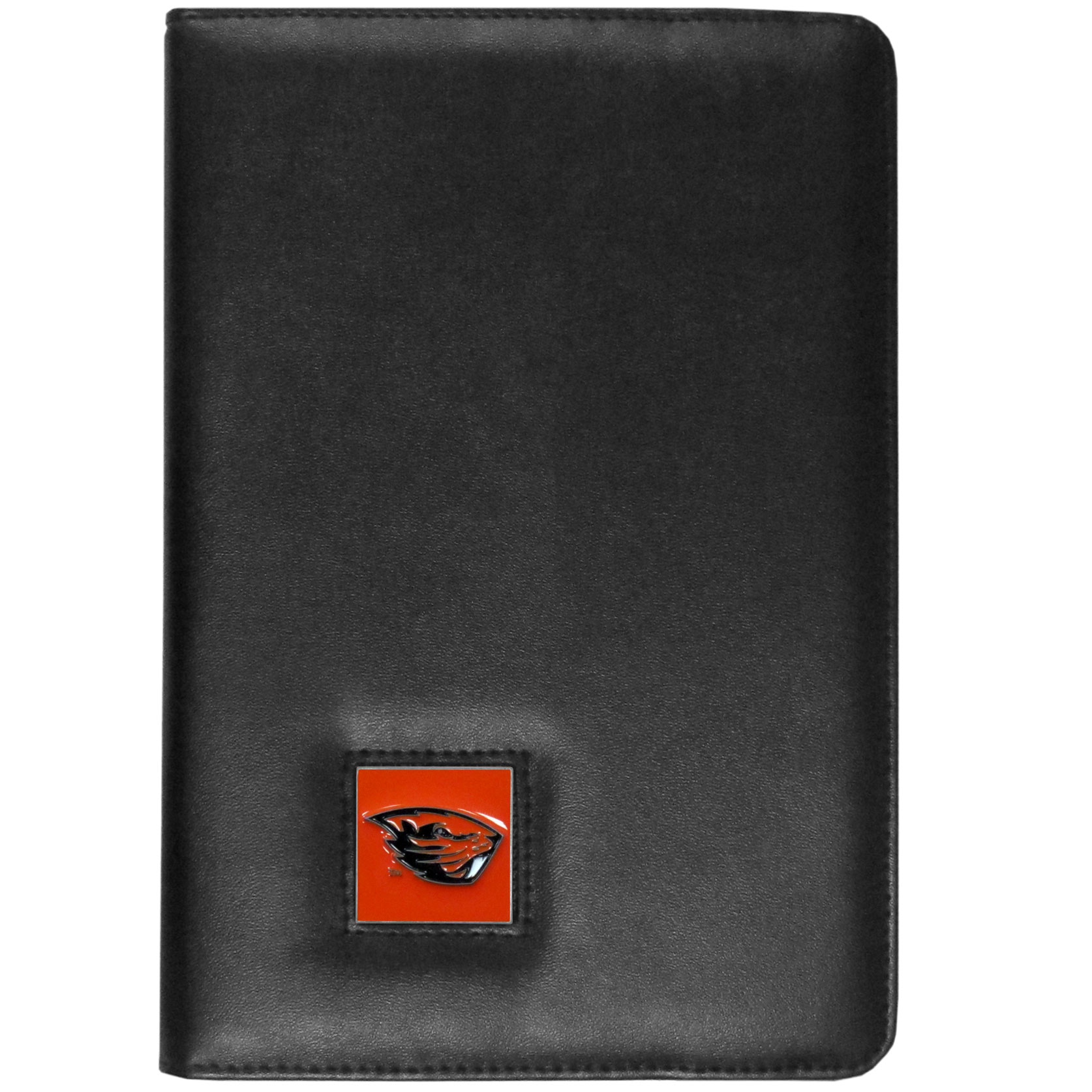 Oregon St. Beavers iPad Mini Folio Case - The perfect iPad mini accessory. The iPad mini slides easily into the inner sleeve that allows complete accessibility to all of the devices features and is the protected by the attractive out cover that can be secured closed or open while working with a simple stretch band. The great case features a cast and enameled Oregon St. Beavers emblem.