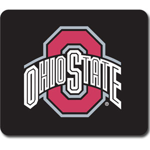 "Ohio St. Buckeyes Mouse Pad - Our quality collegiate mouse pad features a silk screened school logo. 8"" x 7"" Thank you for shopping with CrazedOutSports.com"