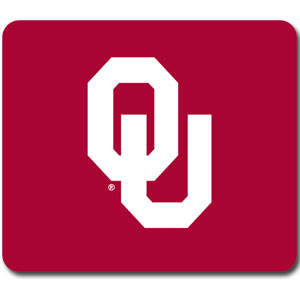 "Oklahoma Sooners Mouse Pad - Our quality collegiate mouse pad features a silk screened school logo. 8"" x 7"" Thank you for shopping with CrazedOutSports.com"