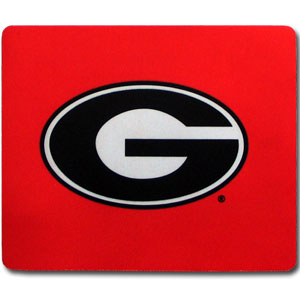 "Georgia Bulldogs Mouse Pad - Our quality collegiate Georgia Bulldogs mouse pad features a silk screened school logo. 8"" x 7"" Thank you for shopping with CrazedOutSports.com"