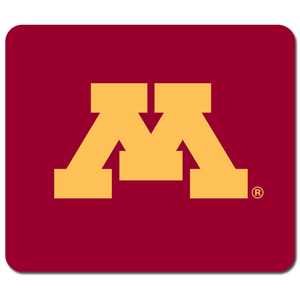 "Minnesota Golden Gophers Mouse Pad - This quality collegiate Minnesota Golden Gophers Mouse Pad features a silk screened Minnesota logo. Minnesota Golden Gophers Mouse Pad is 8"" x 7"" Thank you for shopping with CrazedOutSports.com"