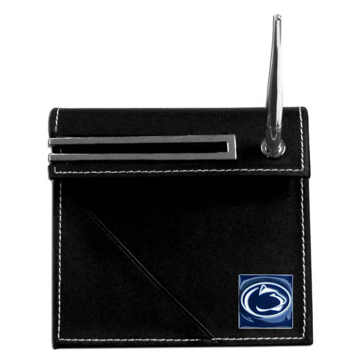 Penn State Desk Set - Our classic collegiate desk set features a slot for a note pad, a slot for your business cards and comes with a stylish pen. The set shows off your school pride with a hand enameled school emblem. Thank you for shopping with CrazedOutSports.com