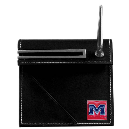 Mississippi Desk Set - Our classic collegiate desk set features a slot for a note pad, a slot for your business cards and comes with a stylish pen. The set shows off your school pride with a hand enameled school emblem. Thank you for shopping with CrazedOutSports.com