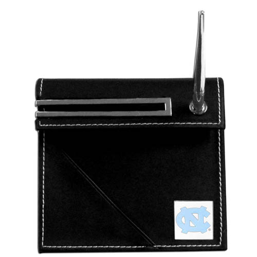 North Carolina Desk Set - Our classic collegiate desk set features a slot for a note pad, a slot for your business cards and comes with a stylish pen. The set shows off your school pride with a hand enameled school emblem. Thank you for shopping with CrazedOutSports.com
