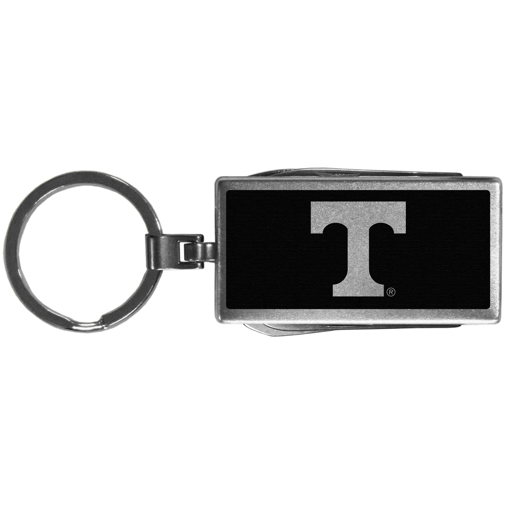 Tennessee Volunteers Multi-tool Key Chain, Black - Be the hero at the tailgate, camping, or on a Friday night with your Tennessee Volunteers Multi-Tool Keychain which comes complete with bottle opener, scissors, knife, nail file and screw driver. Be it opening a package or a beverage Siskiyou's Multi-Tool Keychain goes wherever your keys do. The keychain hangs at 4 inches long when closed.