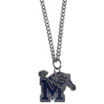 Memphis Tigers Chain Necklace with Small Charm - Make a statement with this Memphis Tigers Chain Necklace with Small Charm. The 20 inch chain features a fully cast, high polish Memphis Tigers pendant with vivid enameled details. Memphis Tigers Chain Necklace with Small Charm is a perfect accessory for game day and nice enough to wear everyday! Thank you for shopping with CrazedOutSports.com