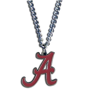 College Pendant - Alabama Crimson Tide -  college sculpted logo pendant on a chain necklace. A great way to show school spirit! Check out our entire line of  collegiate jewelry! Thank you for shopping with CrazedOutSports.com