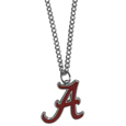 Alabama Crimson Tide Chain Necklace with Small Charm - Make a statement with our Alabama Crimson Tide collegiate chain necklace. The 20 inch chain features a fully cast, high polish Alabama Crimson Tide pendant with vivid enameled details. Perfect accessory for game day and nice enough to wear everyday! Thank you for shopping with CrazedOutSports.com