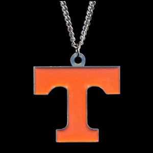 College Pendant - Tennessee Volunteers -  college sculpted logo pendant on a chain necklace. A great way to show school spirit! Check out our entire line of  collegiate jewelry! Thank you for shopping with CrazedOutSports.com