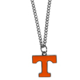 Tennessee Volunteers Chain Necklace with Small Charm - Make a statement with our collegiate chain necklaces. The 20 inch chain features a fully cast, high polish Tennessee Volunteers pendant with vivid enameled details. Perfect accessory for game day and nice enough to wear everyday! Thank you for shopping with CrazedOutSports.com