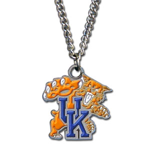 College Pendant - Kentucky Wildcats -  college sculpted logo pendant on a chain necklace. A great way to show school spirit! Check out our entire line of  collegiate jewelry! Thank you for shopping with CrazedOutSports.com