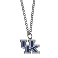 Kentucky Wildcats Chain Necklace with Small Charm - Make a statement with our collegiate chain necklaces. The 20 inch chain features a fully cast, high polish Kentucky Wildcats pendant with vivid enameled details. Perfect accessory for game day and nice enough to wear everyday! Thank you for shopping with CrazedOutSports.com