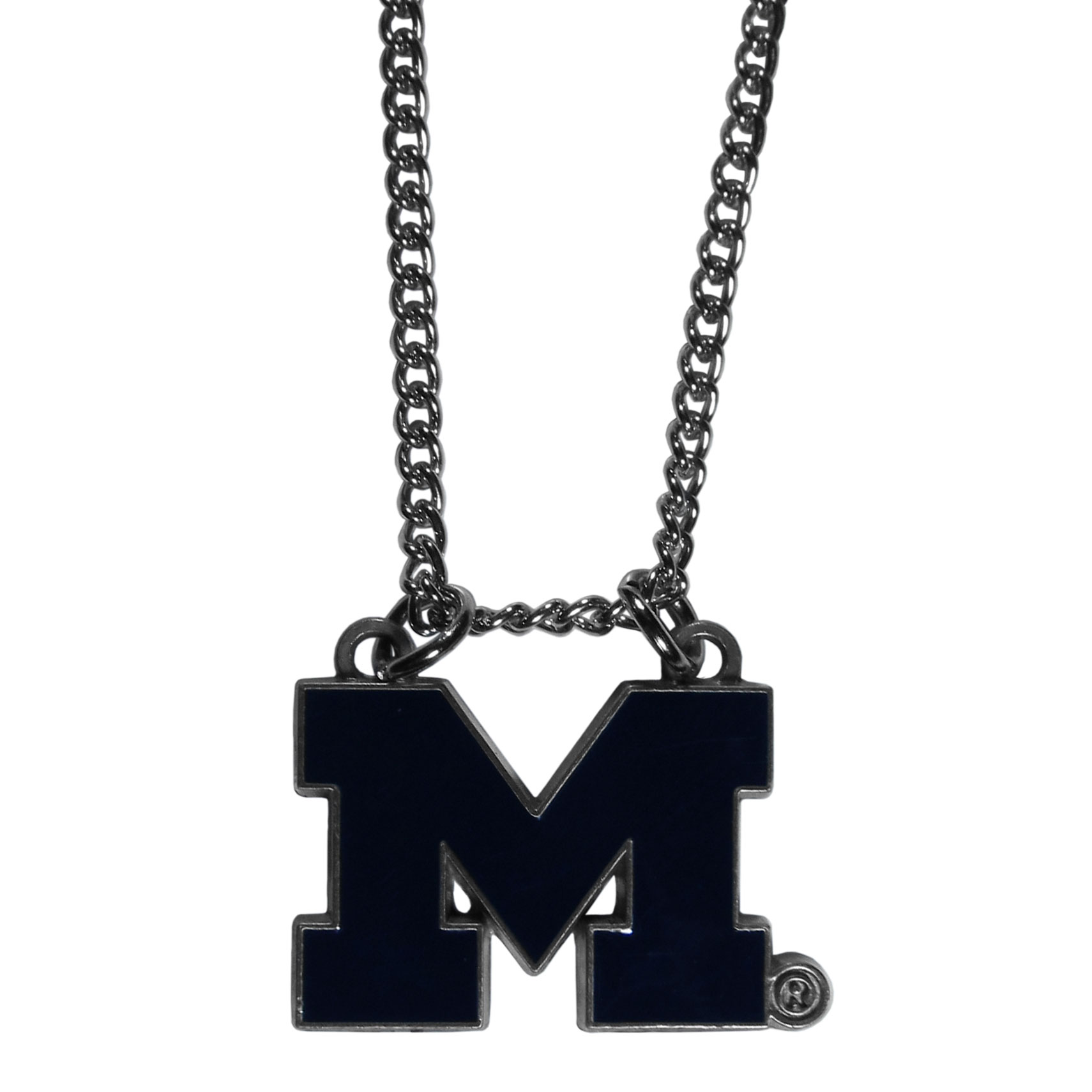 Michigan Wolverines Chain Necklace - Make a statement with our chain necklaces. The 22 inch chain features a fully cast, metal Michigan Wolverines pendant with vivid enameled details. Perfect accessory for game day and nice enough to wear everyday!