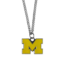Michigan Wolverines Chain Necklace with Small Charm - Make a statement with this collegiate Michigan Wolverines Chain Necklace with Small Charm. The Michigan Wolverines Chain Necklace with Small Charm has a 20 inch chain that features a fully cast, high polish Michigan Wolverines pendant with vivid enameled details. Michigan Wolverines Chain Necklace with Small Charm is a perfect accessory for game day and nice enough to wear everyday! Thank you for shopping with CrazedOutSports.com