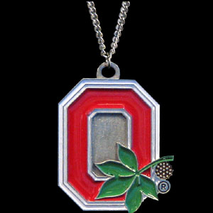College Pendant - Ohio State Buckeyes -  college sculpted logo pendant on a chain necklace. A great way to show school spirit! Check out our entire line of  collegiate jewelry! Thank you for shopping with CrazedOutSports.com